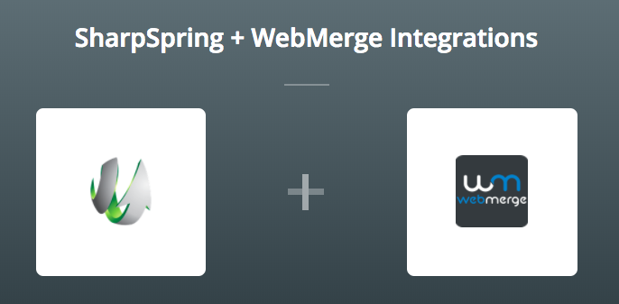 SharpSpring & WebMerge on Zapier