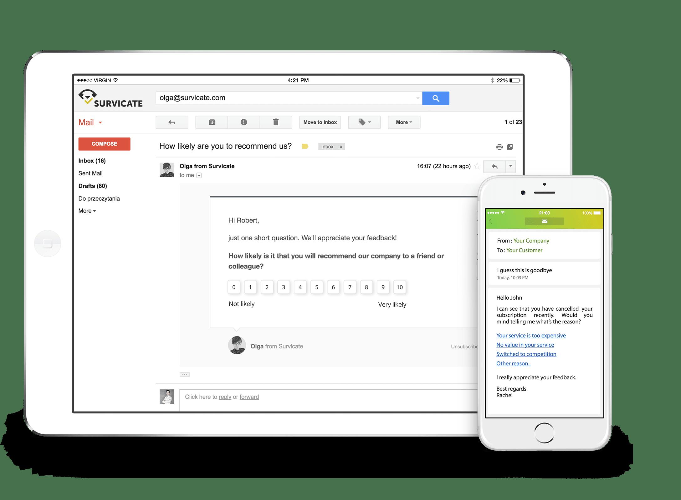 Survicate In-Message Survey