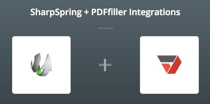 SharpSpring & PDFfiller op Zapier