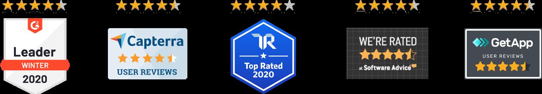 sharpspring review site badges 2020