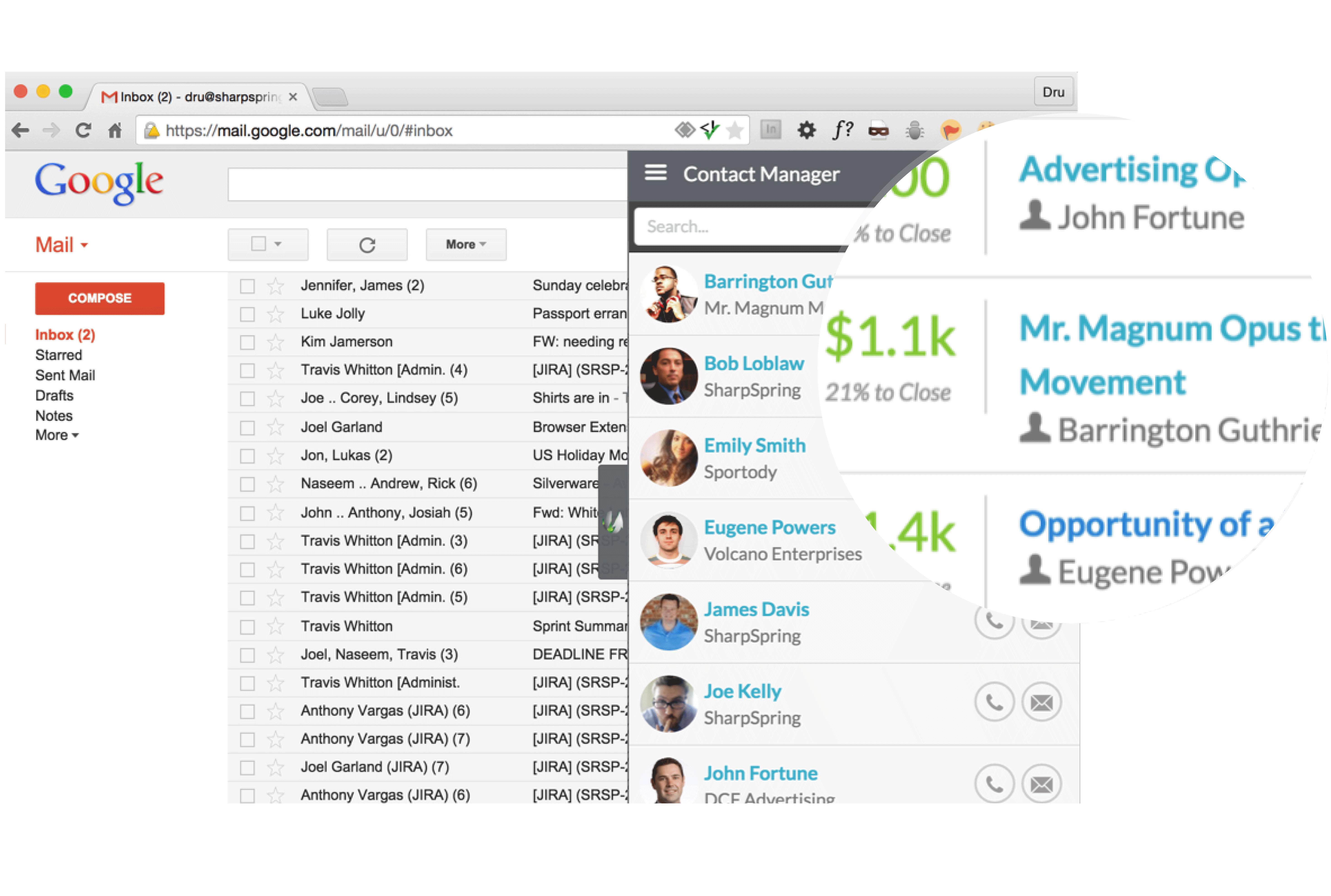 Social Assistant | Powerful Contact Insights - SharpSpring