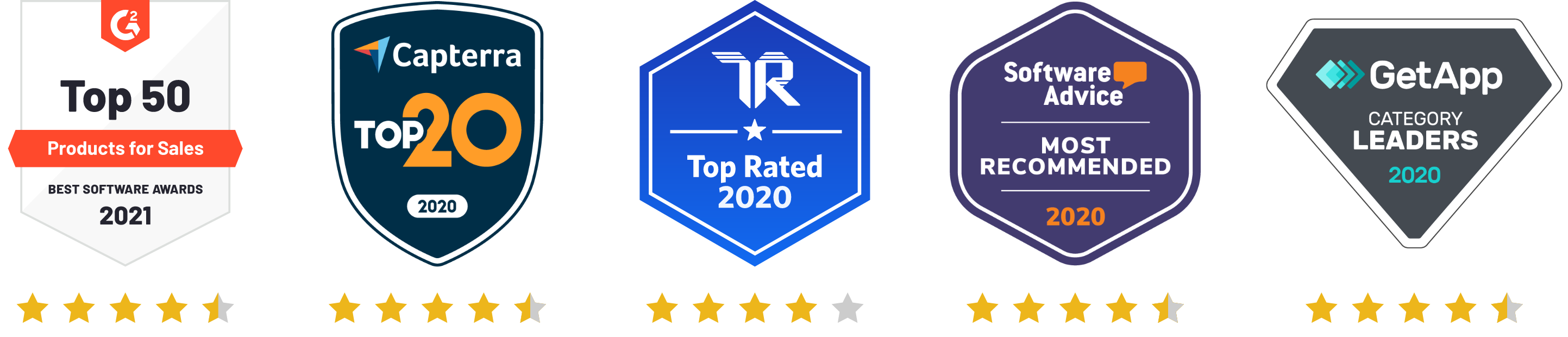 Review Site Badges Stars Only
