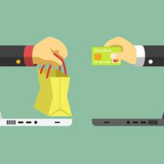 E-commerce platte vectorillustratie