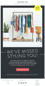 Voorbeeld van Stitch Fix Email Marketing Automation