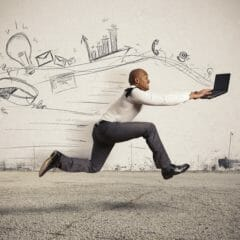 Man Running While Creating a More Engaging Call to Action