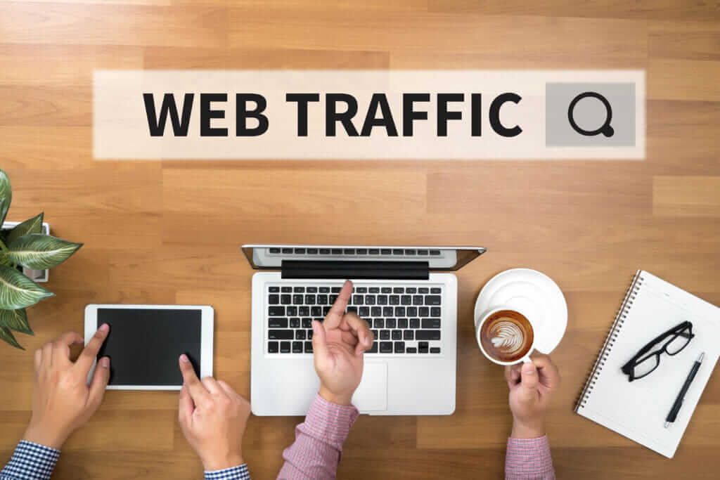 Increase website traffic laptop image