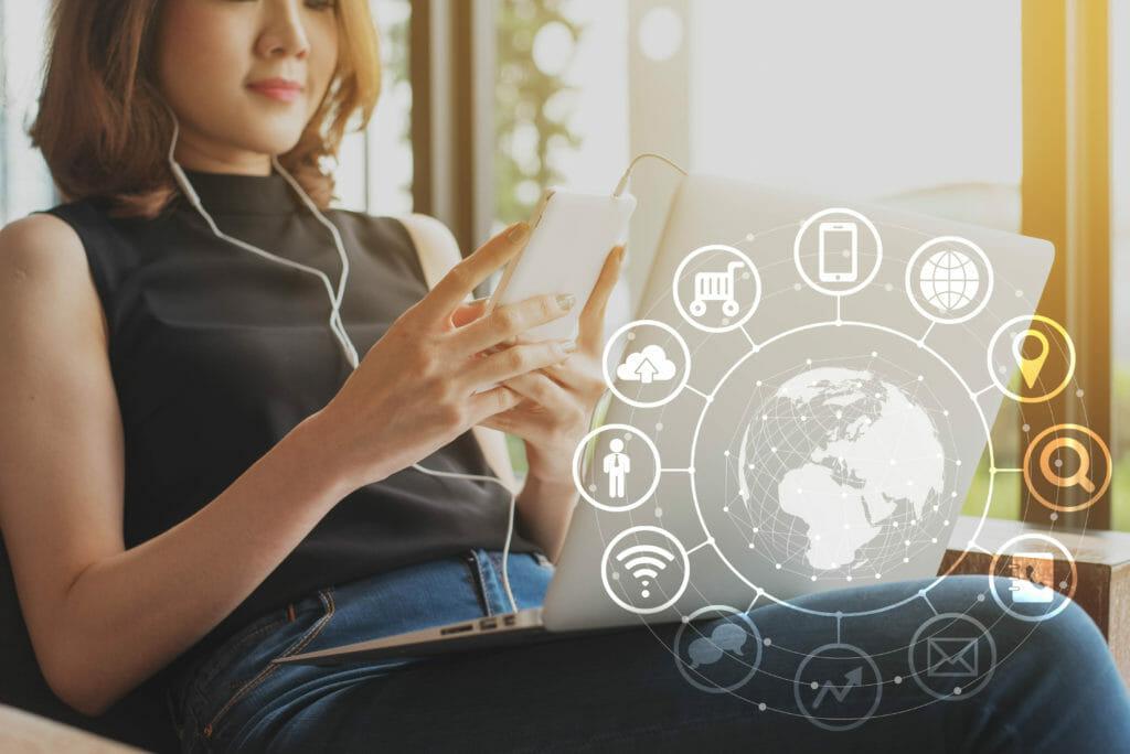 Image depicting omni-channel marketing user