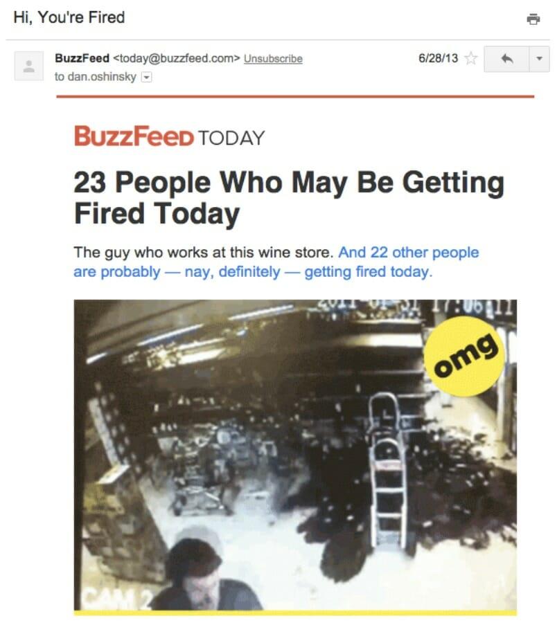 Buzzfeed-E-Mail-Beispiel